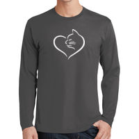 Cat Heart Adult Long Sleeve T-shirt Thumbnail