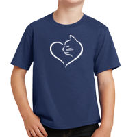 Cat Heart Youth T-shirt Thumbnail